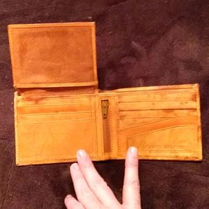 Hand crafted genuine leather wallet